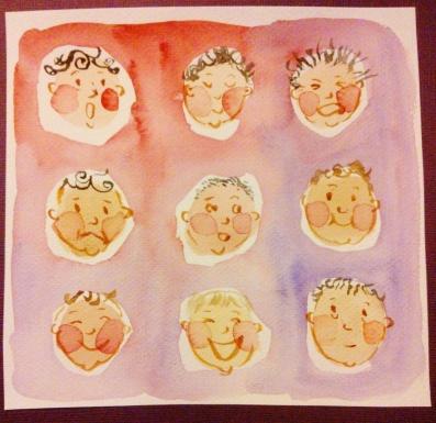 Väriterapiaa vauvat
